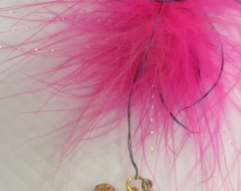 Pink Feather Pin Brooch