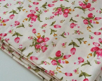 Tulip Cotton Fabric (Pink and Yellow)