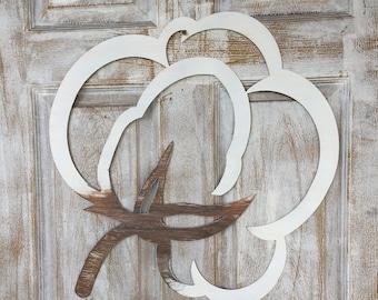 Cotton Boll Doorhanger