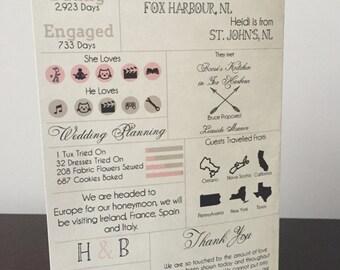 Printable Custom Info Graphic Wedding Program Digital Download Infographic Wedding Program Printable Wedding Program