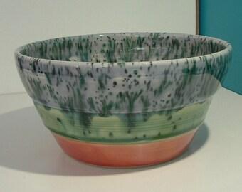 Multi Color Handmade Bowl, Handmade Pottery Bowl, Stoneware Bowl,