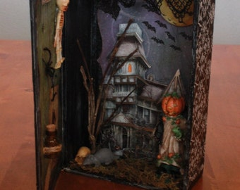 Halloween Configuration Cabinet. Mixed Media