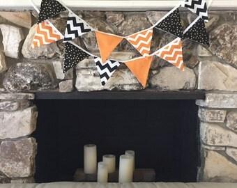 Halloween Fabric Bunting Banner