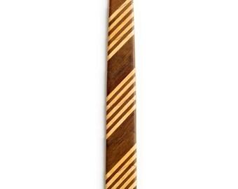 School boy Skinny Wooden Tie (5 stripe)