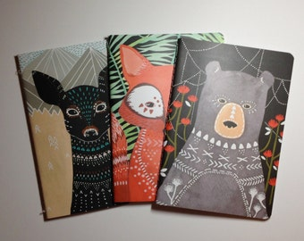 Notebook Trio 'Woodland Creatures'