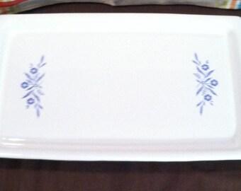 Vintage Corningware Blue Cornflower Broil Bake Tray with Rack\Tray Holder