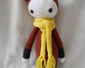Doudou Bina Lalylala, Bear, Teddy bear crochet, Amigurumi, toy