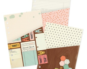The Reset Girl Carpe Diem A5 Planner Pocket Folders, 3 Pockets, A5 Planner Pockets, Planner Accessories, Organization (4978)