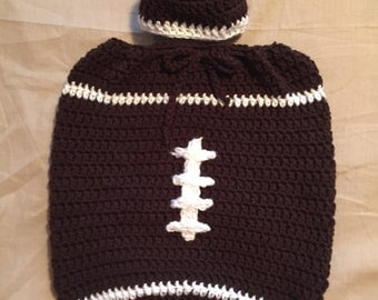 Football Cocoon and Hat Set