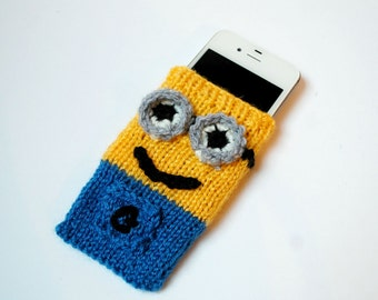 Minion knitted iPhone4/4s cover