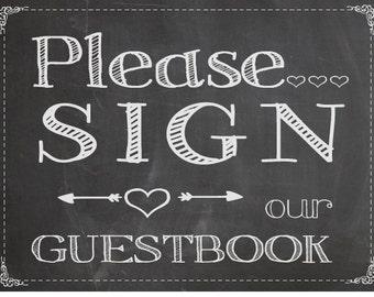 Chalkboard Guestbook Printable