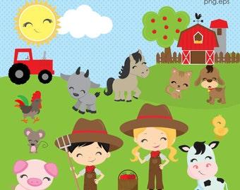 Farm clipart | Etsy