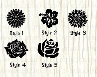 Flower Car Decal, Flower Decal, Daisy Flower Decal, Hawaiian Flower Decal, Hibiscus Car Decal, Petal Car Decal, Zinnia Decal, Rose Decal
