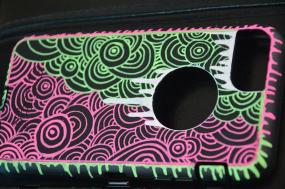Handpainted Otterbox Defender Case for the iPhone 6