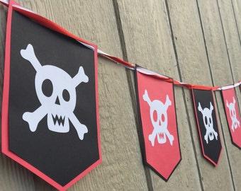 Pirate Happy Birthday Boy Girl Banner