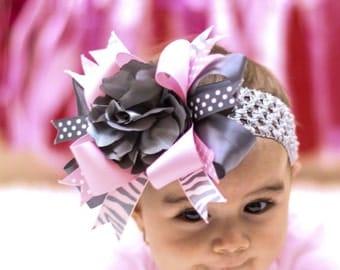 Baby hair bow, Girls hair bow, Boutique hair bow, Layered hair bows, Newborn hair bow, Baby headbands, Girl headbands,