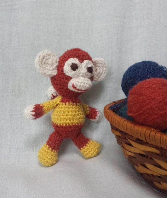 Amigurumi MONKEY stuffed toy monkey crochet monkey