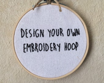 Custom Hand Embroidery Hoop Wall Art