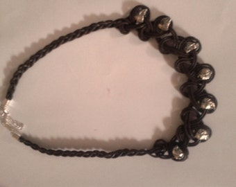 leather necklace. handmade. gorgeous worn. want another color? other stones or beads? ask accotenterò.