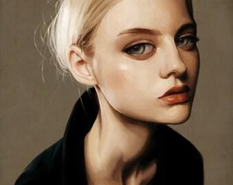 custom portrait painting, Unique style digital painting, Printable art,Only Digital File, High Quality Art, Custom portrait.