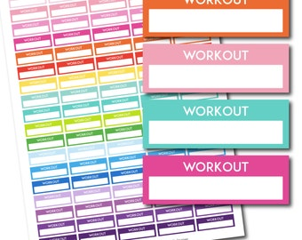 Workout stickers, Workout planner stickers, Printable workout stickers, Workout box stickers, Workout Header stickers, Life planner STI-196