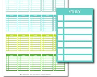 Study stackable stickers, Study checklist stickers, Study stickers, Study planner stickers, Study full box, Study sidebar, STI-283