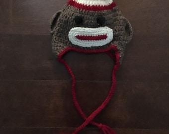 Babu the  monkey crocheted hat