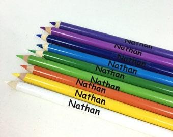 Clairs Transparent étiquettes école nom étiquettes nom crayon personnalisé stickers étiquettes enfants étiquettes personnalisées clair Bureau étiquettes autocollantes