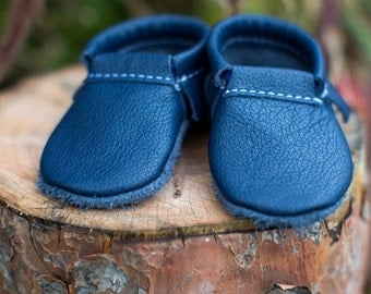 LOAFER || Navy Moccasin