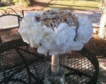 All That Glitters Brooch Bouquet