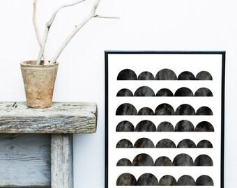 Scandinavian Print, Black And White Art, Mid Century Modern, Art Print,  Giclee print, Wall Art,  Abstract Art
