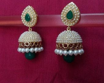 Jhumka earrings Indian Earrings Indian jewelry Jhumka Bollywood earrings Bollywood jewelry