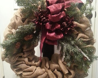 Frosted Pine Christmas Wreath