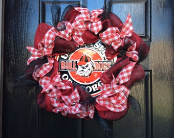 UGA wreath, University of Georgia wreath, best UGA wreath, Bulldogs wreath, Georgia wreath, UGA football wreath, Georgia football wreath,