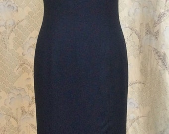 Vintage 1980s Black Evening Gown, Michael Blair Black Gown