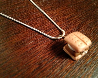Smores Charm Necklace