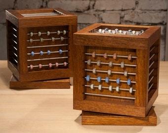 """Revolving beads display """"Cube"""", handcrafted, handfinished beads box, charm box, posdisplay"""