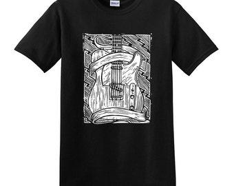 FENDER TELECASTER GUITAR T-shirts - Tele Tee Electric Guitar shirt - Small, Medium, Large, Extra Large, 2XL, 3XL, 4XL, 5XL