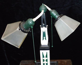 Industrial Lamp American Office Art Deco, Mission, Arts & Crafts Periods c. 1910-30 Restored