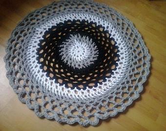 rug crochet, crochet doily rug, mandala rug, crochet round rug