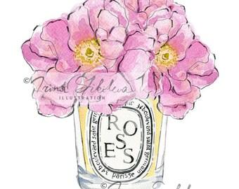 Diptyque Roses (Print)