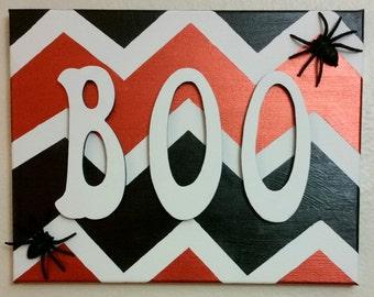 "Halloween ""Boo"" Canvas Sign (11×14)"