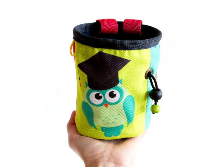 Funky Chalk Bag Sale. Bouldering Bag. Best Gift for Climbers M Size
