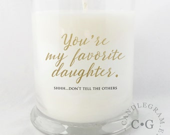 CandleGram 10oz Soy Candle....Favorite Daughter