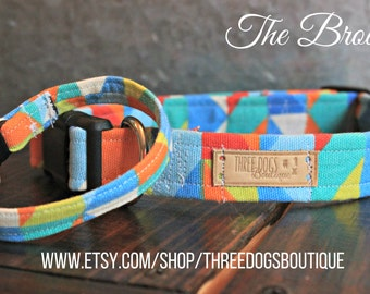 """Canvas dog Collar with Optional bff  bracelet """"The Brody"""" FREE SHIPPING! **Please leave EXACT tight wrist measurement no wiggle room**"""