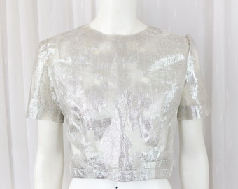 Vintage sheer silver crop top 10