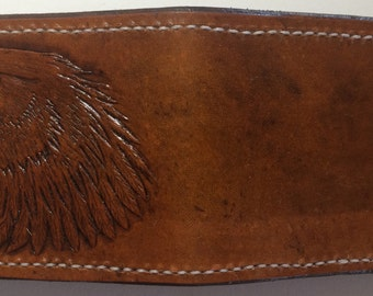 Made to order Handmade Eagle head leather Wallet
