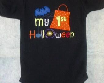 My 1st Halloween Appliqued Onesie 6-12 month