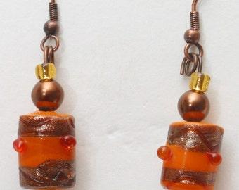Spotted Pumkin Earrings