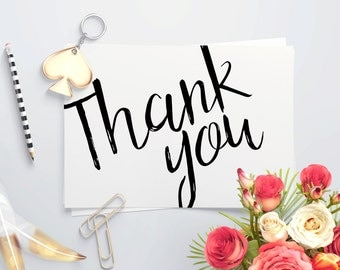 Sketched Thank You Card set A2 4x5.5
